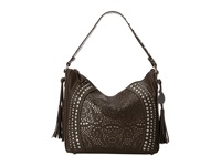 American West Mesa Slouch Hobo Shoulder Bag Chocolate Metallic Shoulder Handbags Brown