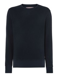 Ben Sherman House Plain Crew Neck Sweatshirt Navy