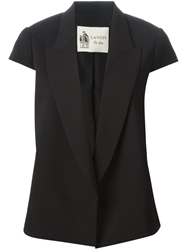 Lanvin Short Sleeve Blazer Black