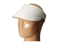Scala Paper Braid Visor With Velcro Back White Casual Visor