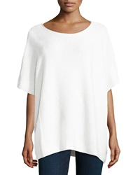 Vince Wool Blend Pullover Slouchy Poncho Winter White