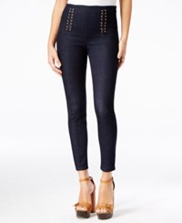 Guess Ashlee Lace Up Skinny Jeans Silicone Rinse