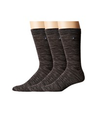 Sperry Casual Crews 3 Pair Pack Black Multi Men's Crew Cut Socks Shoes
