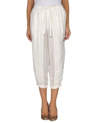 Free People Trousers 3 4 Length Trousers Women Ivory