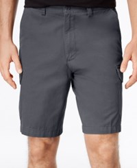 Geoffrey Beene Men's Big And Tall Washed Twill Cargo Shorts Navy