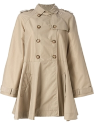 Red Valentino Flared Trench Coat Nude And Neutrals