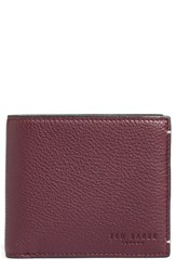 Ted Baker Men's London Dave Leather Bifold Wallet Red Oxblood