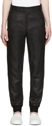 Paul Smith Black Metallic Linen Trousers