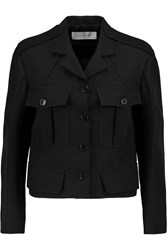Victoria Beckham Cropped Twill Jacket Black