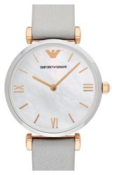 Women's Emporio Armani 'Gianni' Leather Strap Watch 32Mm