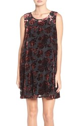 Bb Dakota Women's 'Britannia' Burnout Velvet Trapeze Dress