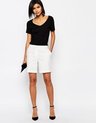 Selected Leonora Tailored Shorts Snow White