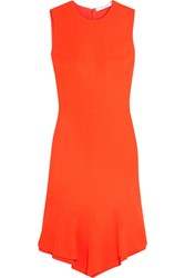 Givenchy Dress In Orange Stretch Cady With Ruffled Asymmetric Hem