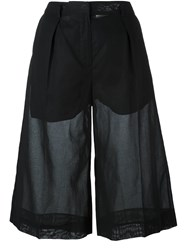 Maison Martin Margiela Semi Sheer Tailored Shorts Black