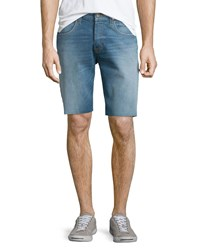 Hudson Jeans Hess Straight Leg Cutoff Denim Shorts Light Blue Men's Lt Blue