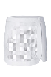 Jonathan Simkhai Leather Skort With Mesh Front