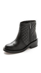 Sam Edelman Lancaster Quilted Moto Booties Black