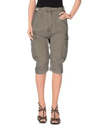 Novemb3r Denim Denim Capris Women Military Green