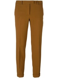 Alberto Biani Tapered Cropped Trousers Brown