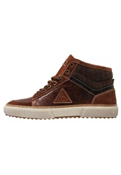 Le Coq Sportif Darcell Hightop Trainers Tortoise Shell Brown