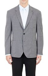 Brooklyn Tailors Hopsack Three Button Sportcoat Grey Size 4 42 Us