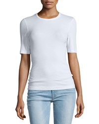 Frame Denim Le Fitted Half Sleeve Tee Blanc Size Xs