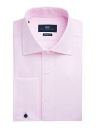 Paul Costelloe Modern Fit Pink Twill Double Cuff Shirt