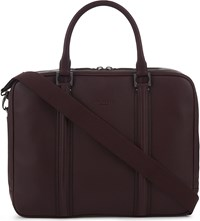 Ted Baker Dice Grained Leather Briefcase Oxblood