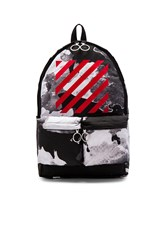 Off White Liquid Spots Backpack Black