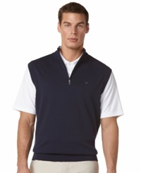 Callaway Quarter Zip Fleece Performance Golf Vest Peacoat