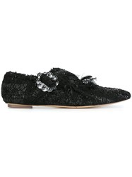Simone Rocha Tweed Ballerinas Black