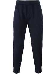 Neil Barrett Zipped Pockets Track Pants Blue