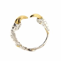 Tessa Metcalfe Single Claw Ring With Gold Nails Silver