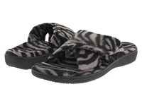 Vionic With Orthaheel Technology Relax Slipper Dark Grey Zebra Women's Slippers Animal Print
