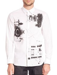 Diesel Black Gold Splendyd X Ray Printed Shirt White