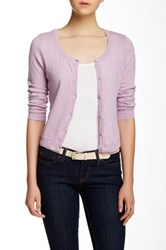 Wild Pearl Scoop Neck Cropped Cardigan Juniors Purple