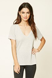 Forever 21 Heathered V Neck Tee