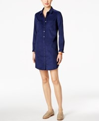 G.H. Bass And Co. Corduroy Shirtdress Deep Navy