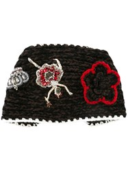 Dolce And Gabbana Knitted Head Band Brown