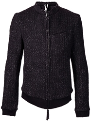 Individual Sentiments Mandarin Collar Jacket Black
