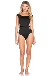 Fleur Du Mal Side Cut Out One Piece Black