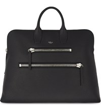 Mulberry Zip Leather Holdall Black