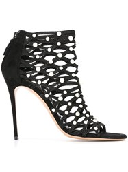 Casadei Netted Sandals Black