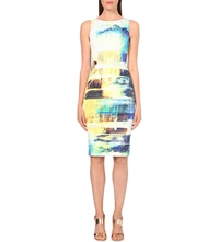 Karen Millen Printed Pencil Dress Grey