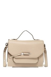 Mackage Arrow Leather Satchel Beige