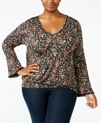 American Rag Trendy Plus Size Smocked Peasant Top Only At Macy's Raspberry Radiance