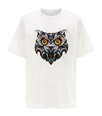 Juun.J Juun J Oversized Embroidered Owl T Shirt Male White