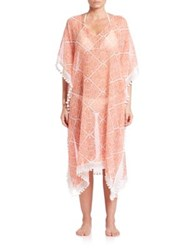 Roberta Roller Rabbit Cotton And Silk Caftan Agave Coral