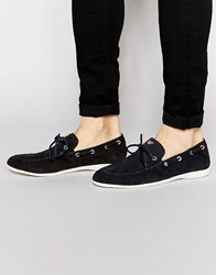 Armani Jeans Suede Loafers Blue