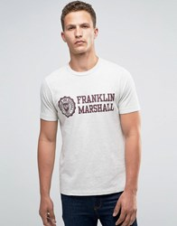 Franklin And Marshall Large Crest T Shirt Original Grey